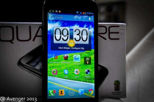 QMobile A600 turned on.
